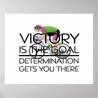 Lema de ciclo SUPERIOR de la victoria Poster