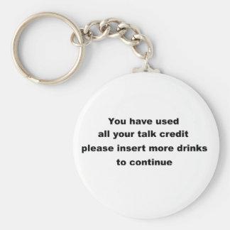 lema de consumición divertido llavero redondo tipo pin