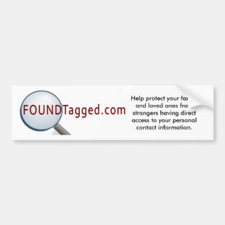 Lema de FoundTagged - pegatina para el parachoques Etiqueta De Parachoque
