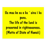 Lema de Hawaii Tarjeta Postal