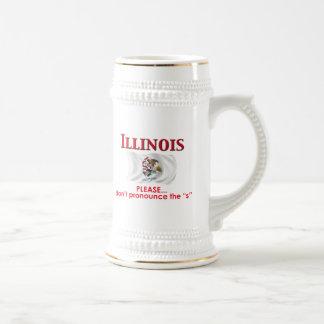 Lema de Illinois Jarra De Cerveza