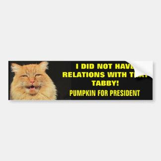 Lema de la campaña presidencial pegatina para auto