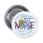 Lema de la enfermera de la atención sanitaria pin