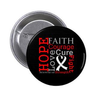 Lema de la fe de la esperanza del cáncer de hueso pins