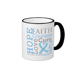 Lema de la fe de la esperanza del cáncer de prósta tazas de café