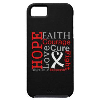 Lema de la fe de la esperanza del cáncer de pulmón iPhone 5 Case-Mate carcasas