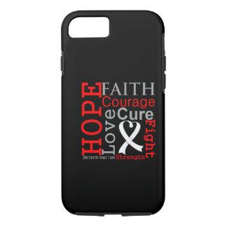 Lema de la fe de la esperanza del cáncer de pulmón funda iPhone 7