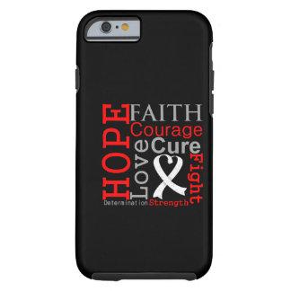 Lema de la fe de la esperanza del cáncer de pulmón funda resistente iPhone 6