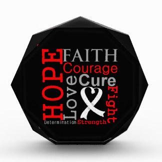 Lema de la fe de la esperanza del cáncer de pulmón