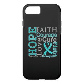Lema de la fe de la esperanza del cáncer ovárico funda iPhone 7