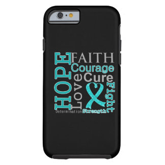 Lema de la fe de la esperanza del cáncer ovárico funda para iPhone 6 tough