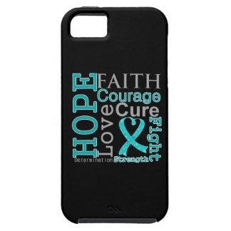 Lema de la fe de la esperanza del cáncer ovárico funda para iPhone SE/5/5s