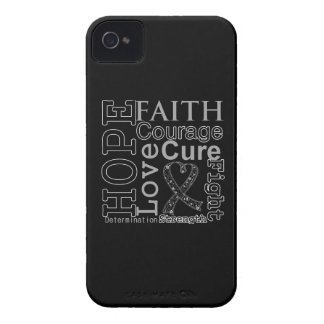 Lema de la fe de la esperanza del melanoma iPhone 4 cobertura
