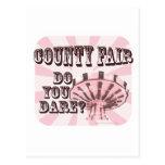 Lema de la feria del condado de la diversión tarjetas postales
