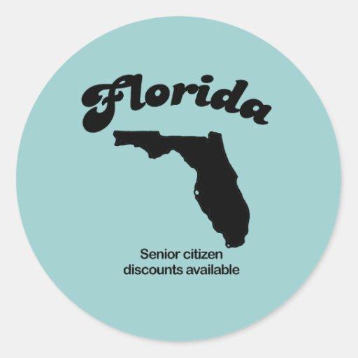 Lema de la Florida - descuentos del jubilado Etiqueta Redonda