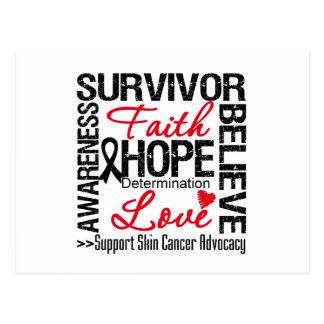 Lema de los supervivientes del cáncer de piel tarjeta postal