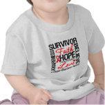 Lema de los supervivientes del cáncer de sangre camiseta