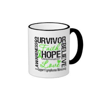 Lema de los supervivientes del cáncer del linfoma taza de dos colores