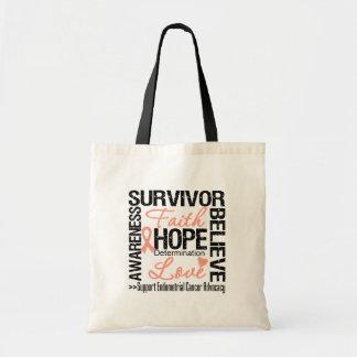 Lema de los supervivientes del cáncer endometrial bolsa tela barata