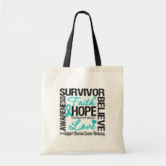 Lema de los supervivientes del cáncer ovárico bolsas lienzo