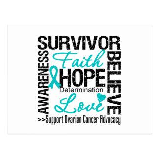 Lema de los supervivientes del cáncer ovárico postal