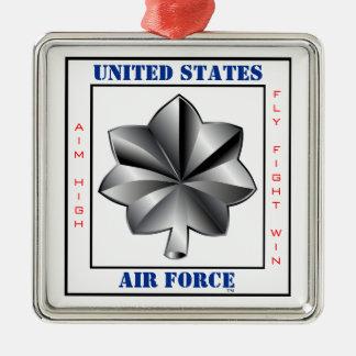 Lema de LTC O-5 del Teniente Coronel de la fuerza Adorno Navideño Cuadrado De Metal