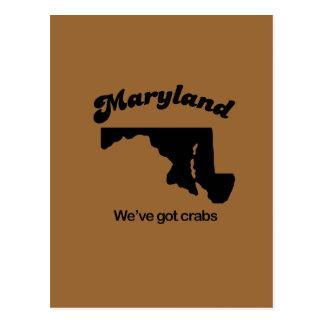 Lema de Maryland - tenemos cangrejos Tarjetas Postales