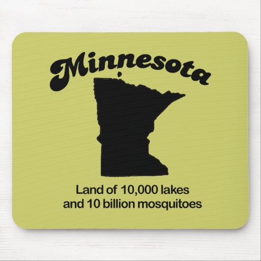 Lema de Minnesota - tierra de 10.000 lagos Tapete De Ratón