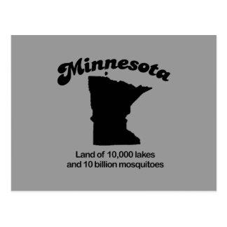 Lema de Minnesota - tierra de 10.000 lagos Tarjeta Postal