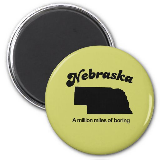 Lema de Nebraska - millón de millas del taladro Imanes De Nevera