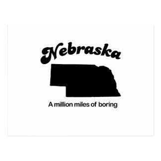 Lema de Nebraska - millón de millas del taladro Tarjeta Postal