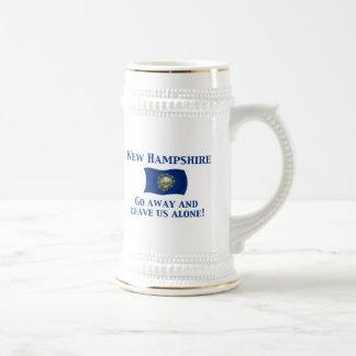Lema de New Hampshire Jarra De Cerveza