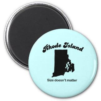 Lema de Rhode Island - el tamaño no importa Imanes Para Frigoríficos