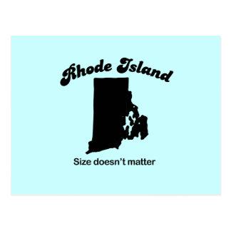 Lema de Rhode Island - el tamaño no importa Postal