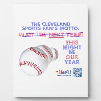 Lema del aficionado al béisbol de Cleveland: ÉSTE Placas De Plastico