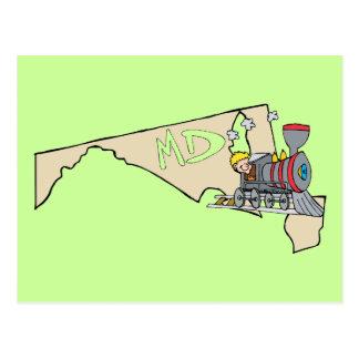 Lema del arte del dibujo animado del mapa y de la tarjetas postales