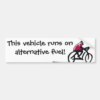 Lema del ciclista - este vehículo corre en alterna pegatina para auto