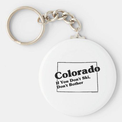 Lema del estado de Colorado Llavero Redondo Tipo Pin