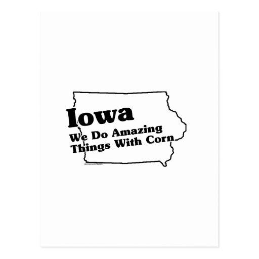 Lema del estado de Iowa Tarjeta Postal