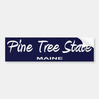 Lema del estado de Maine Pegatina Para Auto