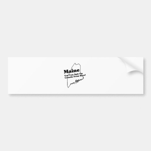 Lema del estado de Maine Etiqueta De Parachoque