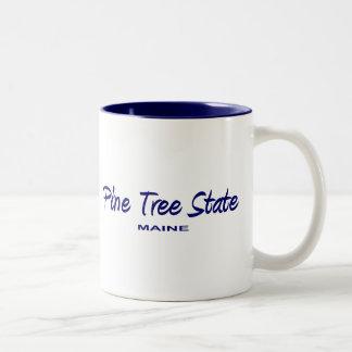 Lema del estado de Maine Taza De Dos Tonos