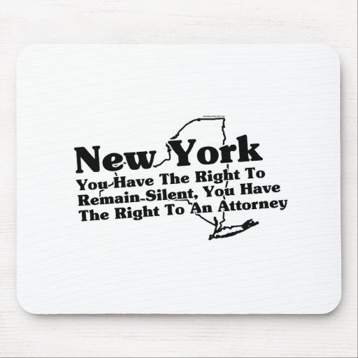 Lema del Estado de Nuevo York Tapetes De Ratón