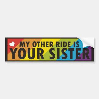 Lema del gay del arco iris pegatina para auto