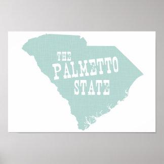 Lema del lema del estado de Carolina del Sur Poster