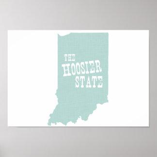 Lema del lema del estado de Indiana Póster