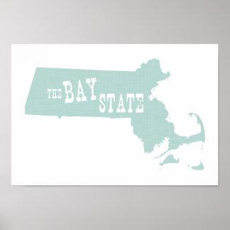 Lema del lema del estado de Massachusetts Poster