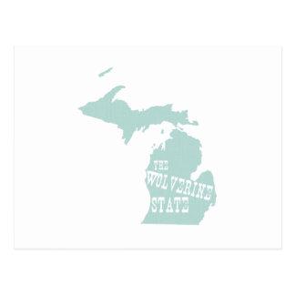 Lema del lema del estado de Michigan Tarjeta Postal