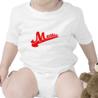 Lema del mathlete de la matemáticas traje de bebé