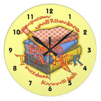 Lema del profesor de inglés relojes de pared